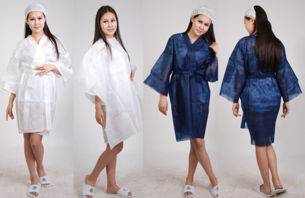Apparel from nonwoven fabric