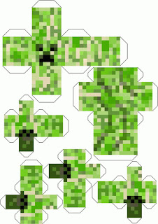 Caja para Imprimir Gratis de Fiesta de Minecraft.
