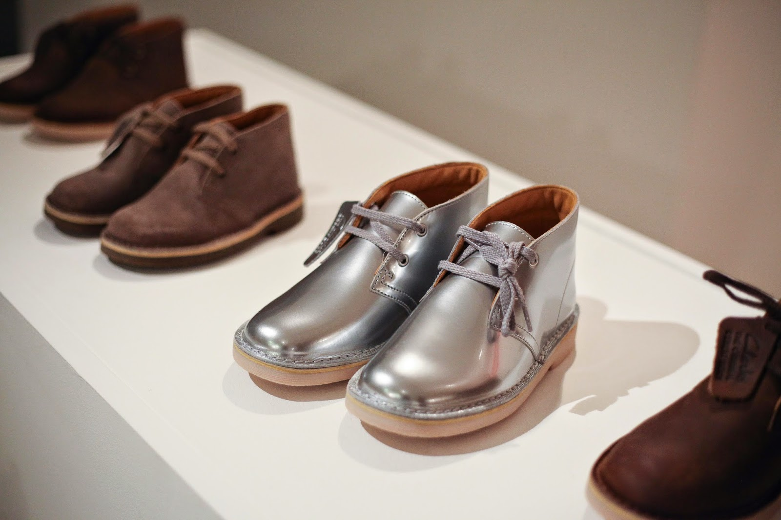 Silver clark shoes