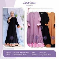 Jual Elma Dress Bahan Mosscrepe Ukuran XL