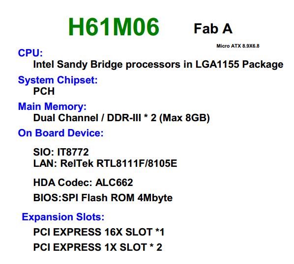 مخطط المازربورد فوكسكون foxconn H61 MXE