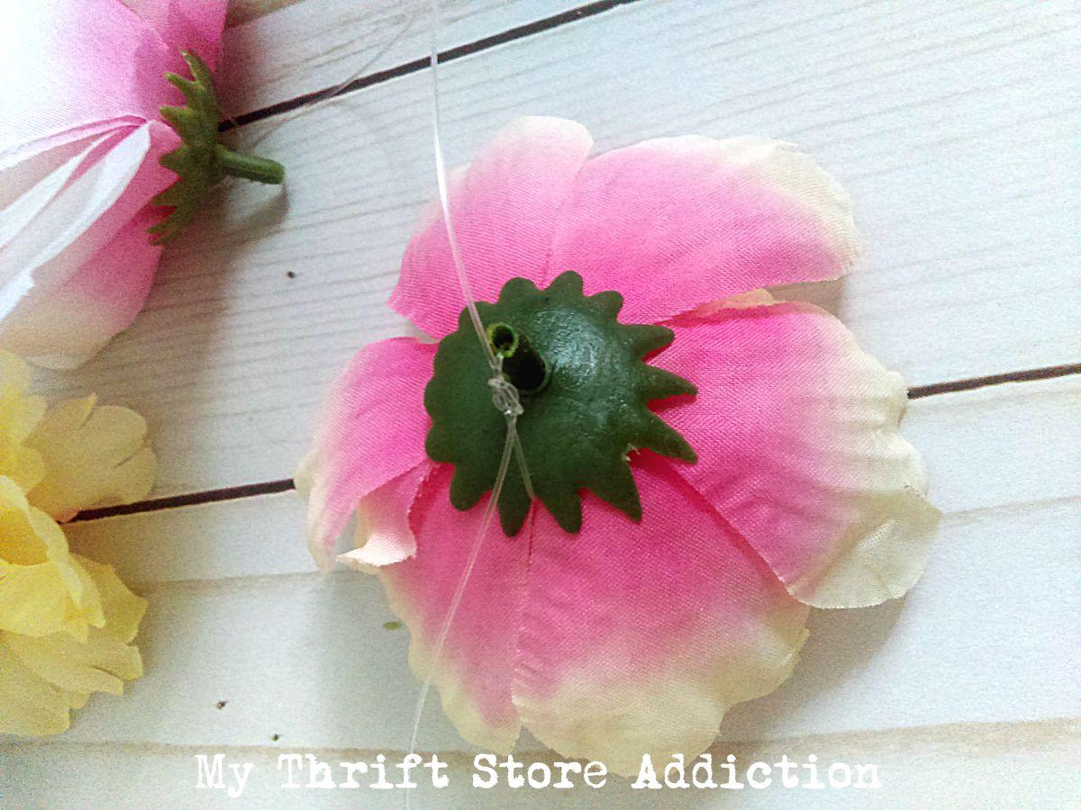 15 minute dollar store peony flower garland
