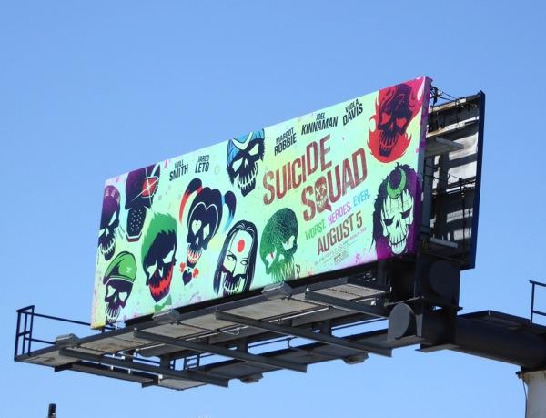 Suicide Squad skulls billboard