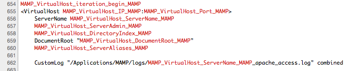MAMP & MAMP PRO: Editing your httpd conf file in MAMP PRO