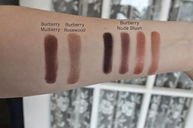 Burberry Nude Blush palette swatches