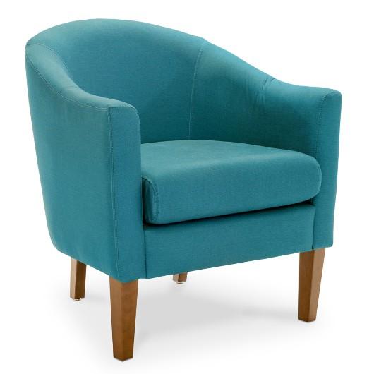 Poltrona Decorativa Azul com Almofada Solta, Actual - belanaselfie