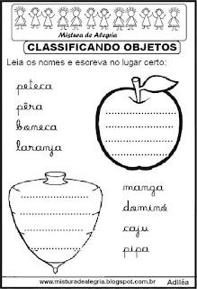 Classificar objetos grupos semânticos