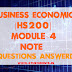 Business Economics [HS200] Note-Module 4