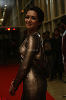 Actress Catherine Tresa in Golden Skin Tight Backless Gown at Gautam Nanda music launchi ~ Exclusive Celebrities Galleries 027.JPG