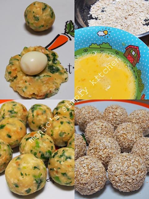 cara membuat bola kentang telur puyuh