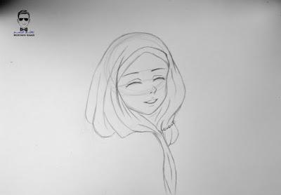 تعليم رسم فتاة محجبة