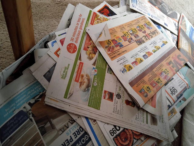 MWP: Recycle newspapers weekly chore prompt