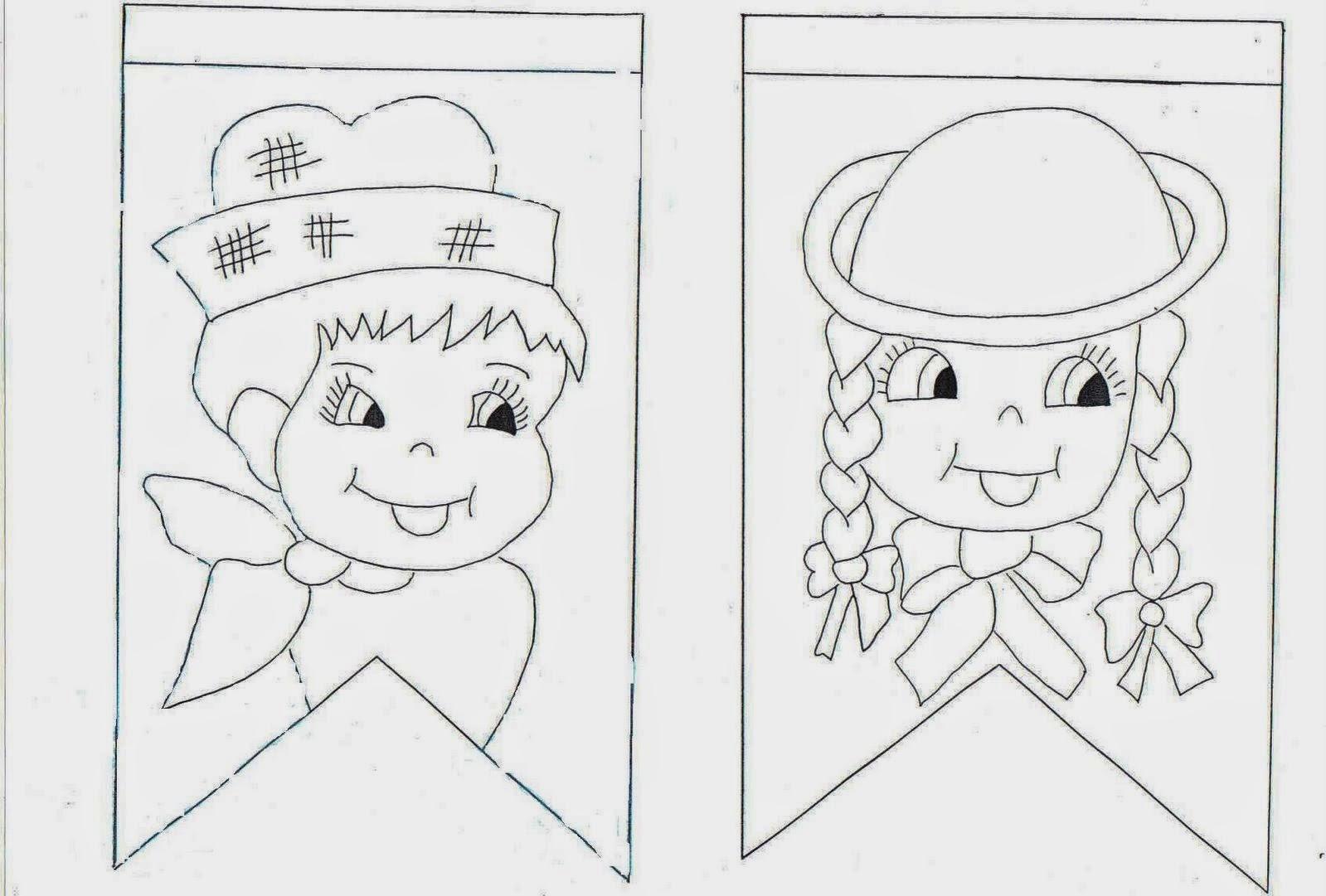 Desenhos Para Colorir E Imprimir Mais Desenhos De Festa Junina
