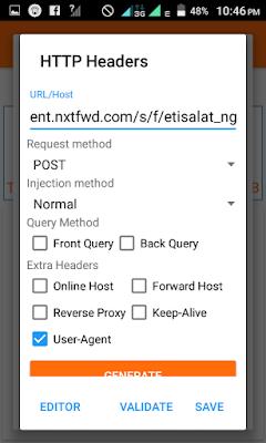 etisalat anonytun settings