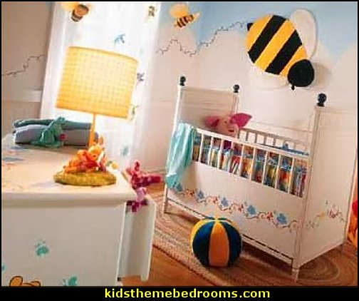bumble bee bedrooms - Bumble bee decor - Honey bee decor - decorating bumble bee home decor - Bumble Bee themed nursery - bee wallpaper mural decals - Honeycomb Stencil - hexagonal stencils - bees in springtime garden bedroom -  bee themed nursery - black yellow bedroom ideas