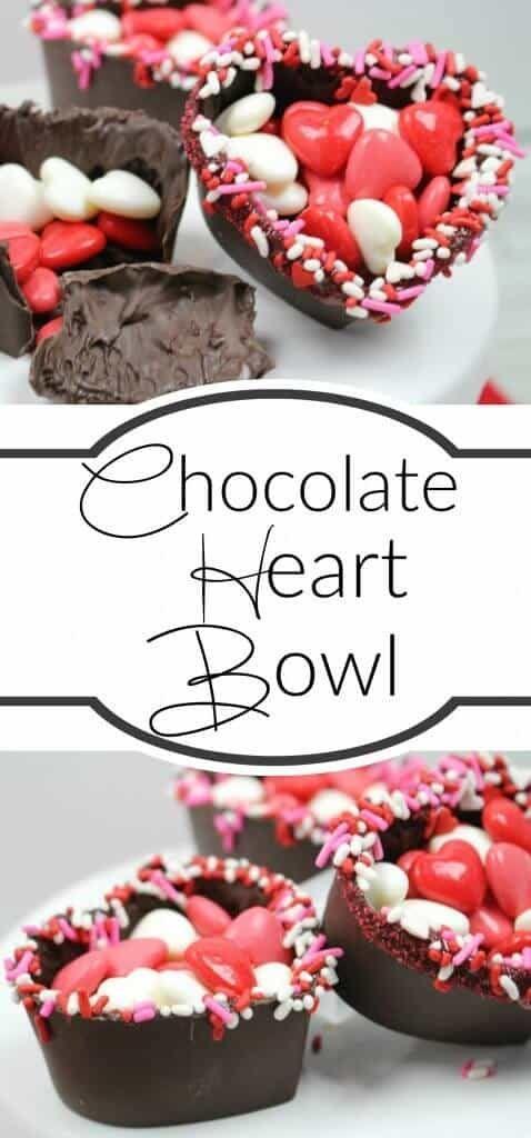 Valentine's Day Chocolate Heart Bowls
