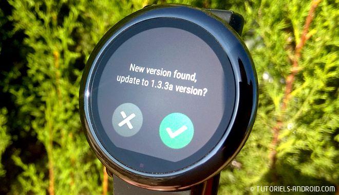 Huami Amazfit : update firmware