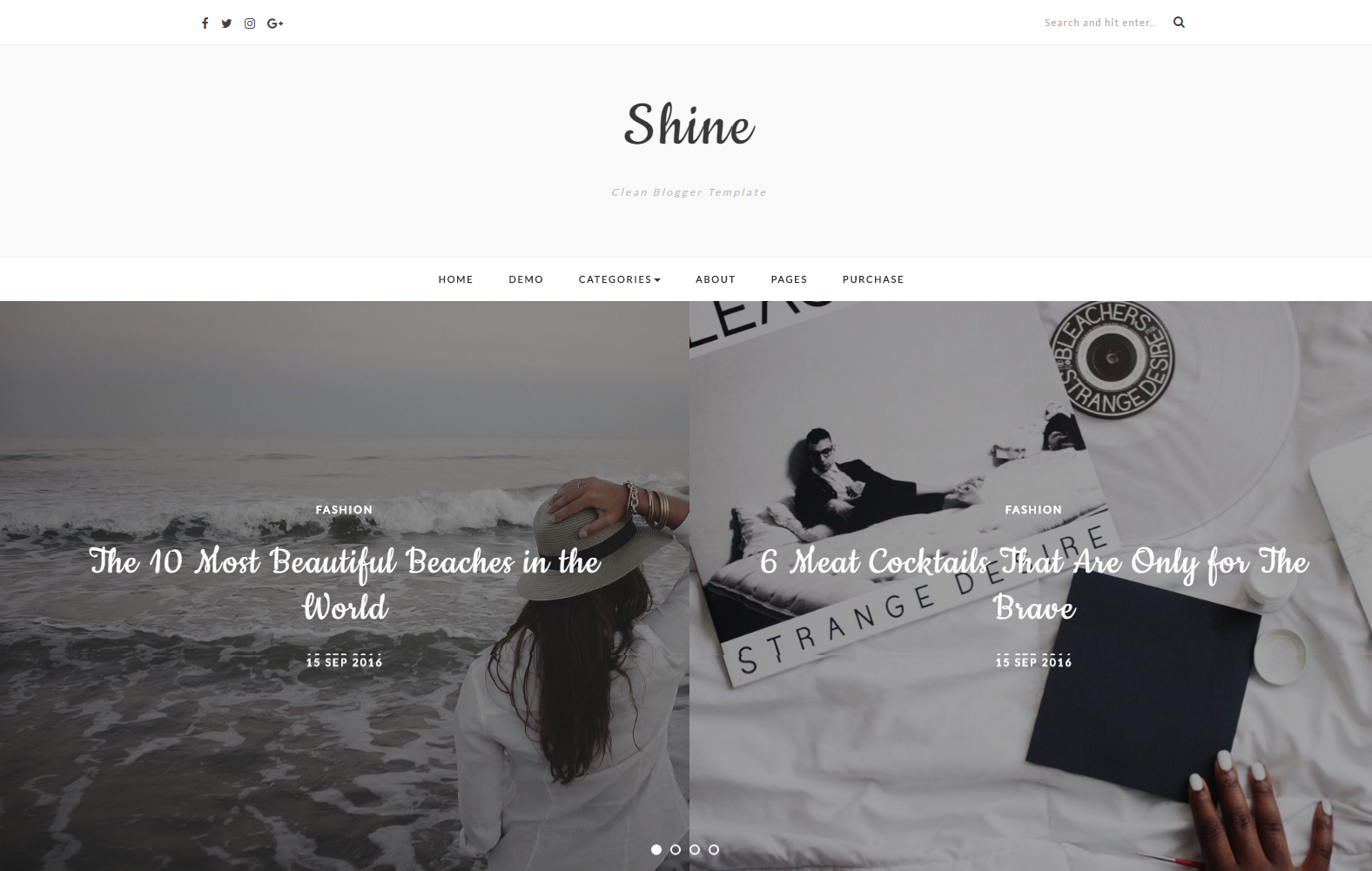 Shine Blogger Template