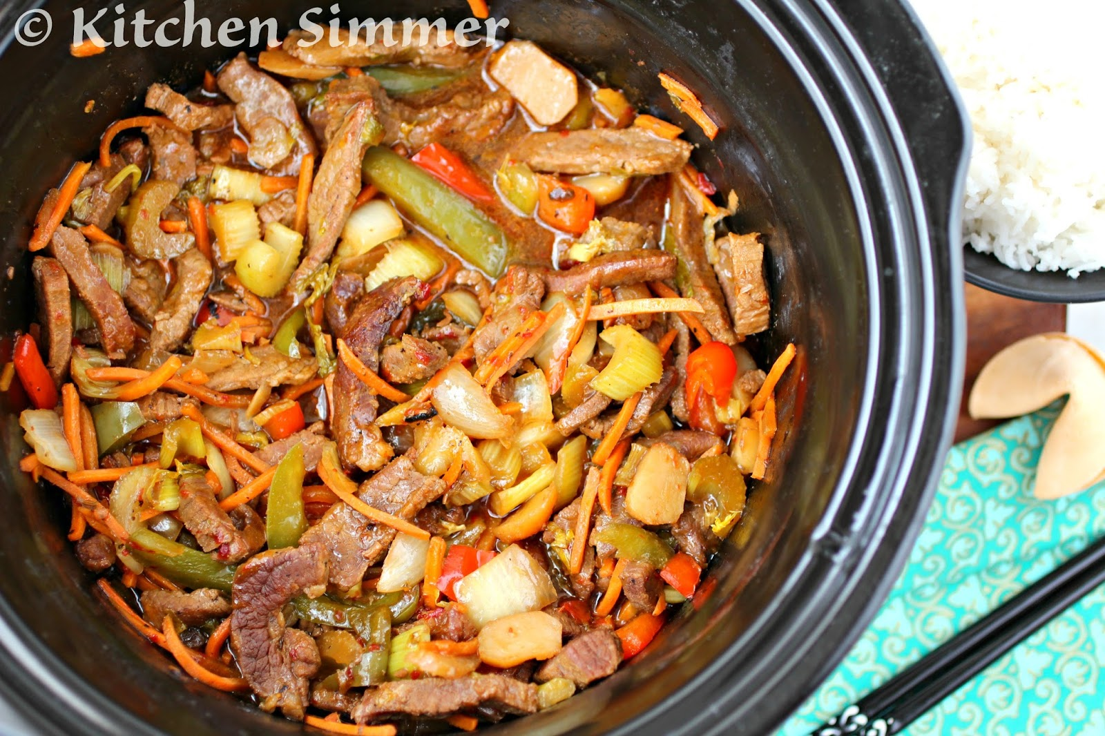 Kitchen Simmer: Slow Cooker Beef And Vegetable Stir Fry How To Cook Brown  Rice