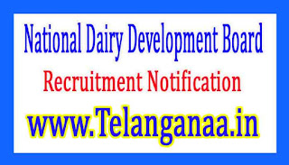 National Dairy Development Board NDDB Recruitment Notification 2017