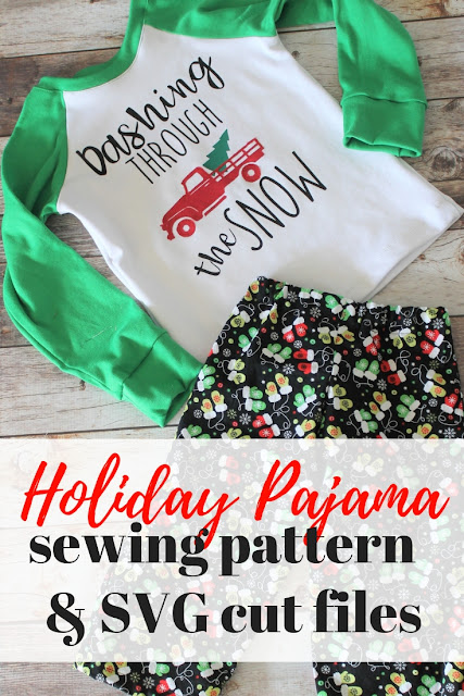 Make your own custom holiday pajamas with these Christmas SVG files for Cricut machines.  #ad #cricutmade