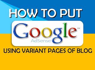 cara variasi iklan google adsense pada halaman tertentu di blog