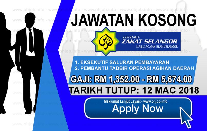 Jawatan Kerja Kosong Lembaga Zakat Selangor - MAIS logo www.ohjob.info mac 2018
