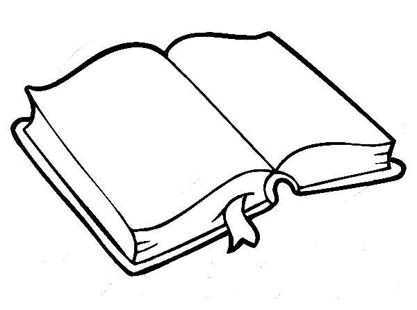 Imágenes De Libros Abiertos Para Colorear