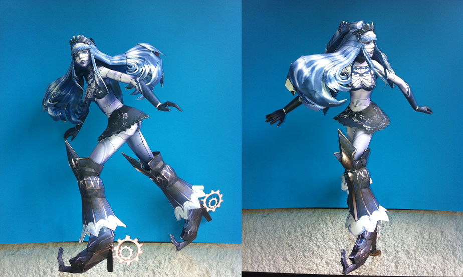 Final Fantasy Type-0 Shiva Papercraft