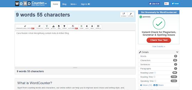 Inilah Cara Gampang Untuk Menghitung Jumlah Kata Di Artikel Blog