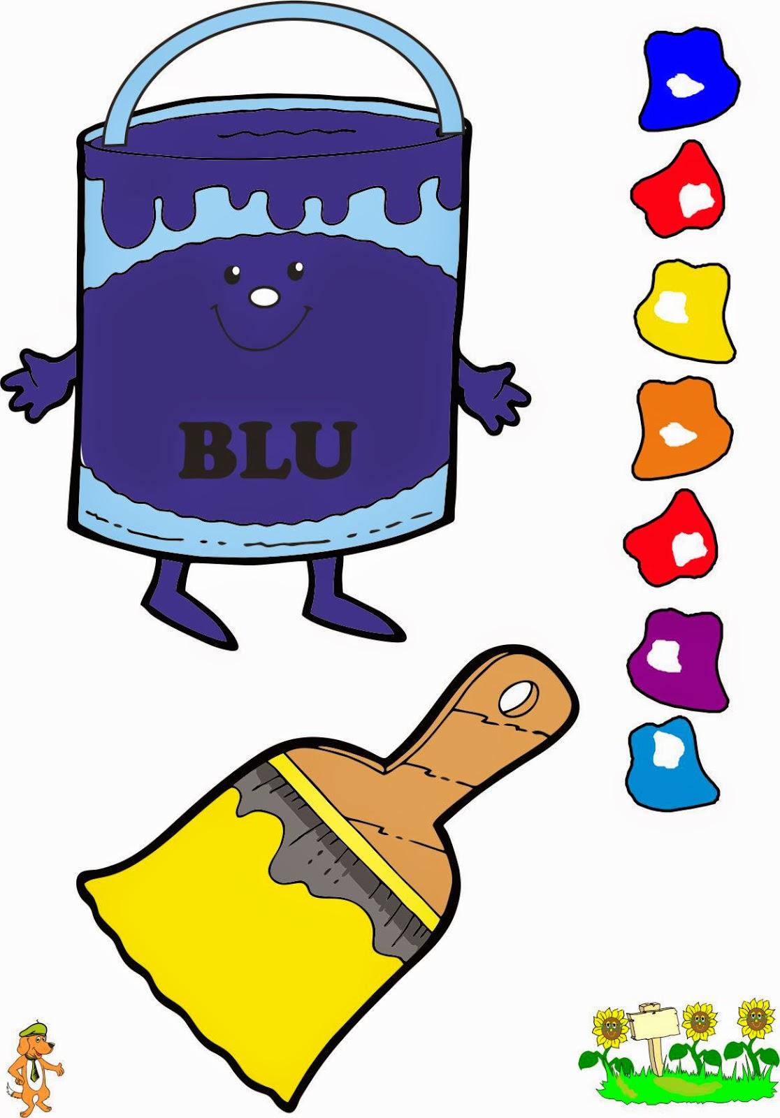 A scuola con poldo il cartellone dei colori for Cartelloni scuola infanzia