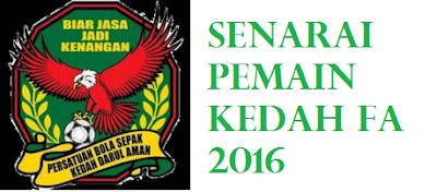 Pemain Kedah 2016