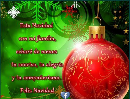 Tarjetas con Mensajes para Navidad enviar en Facebook
