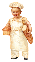 bread baker baking boy image vintage illustration clipart
