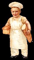 bread baker baking boy image vintage illustration clipart