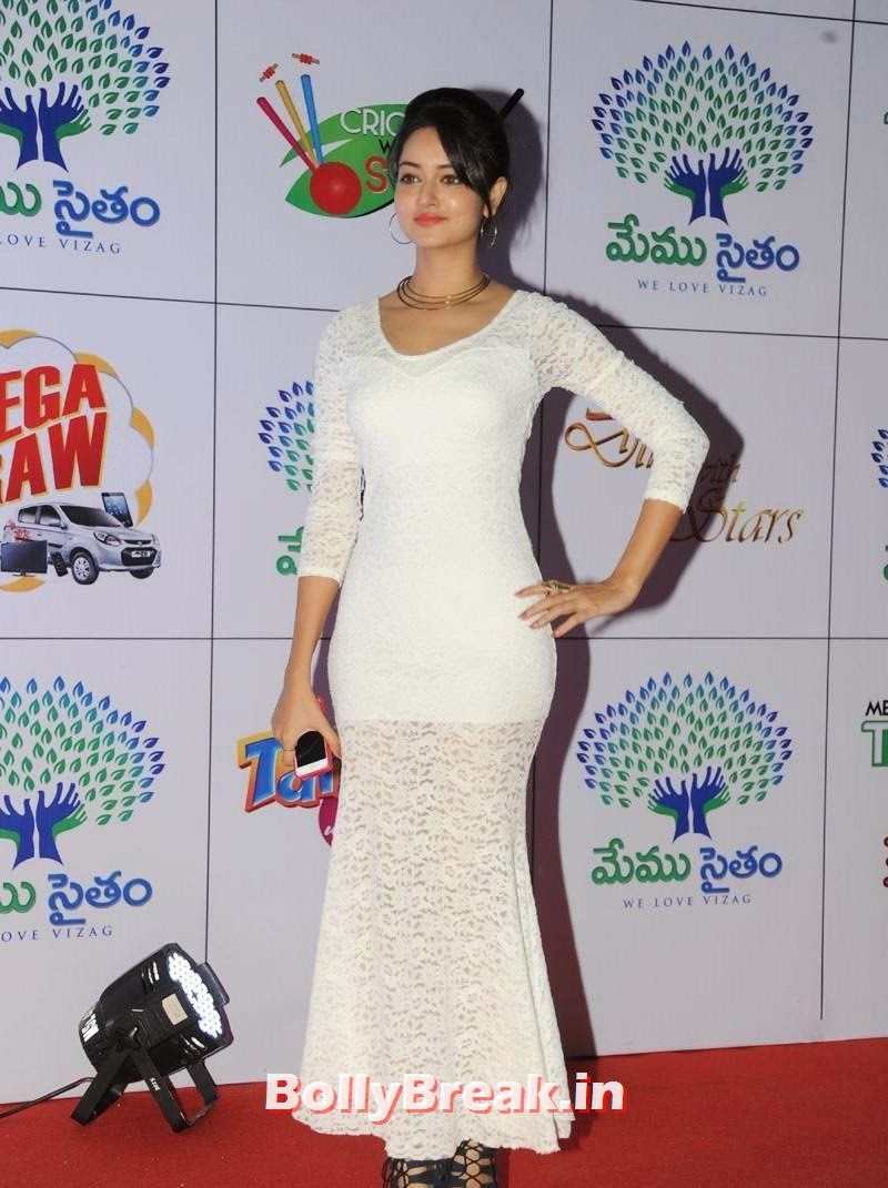 Shanvi images, Actress Shanvi Hot Sexy Pics in White Dress
