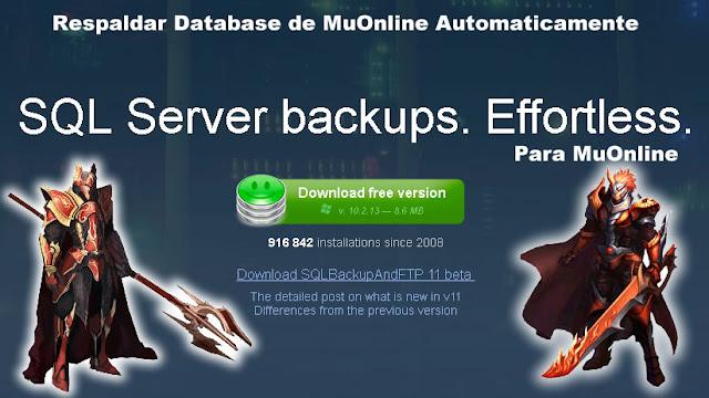 respaldo a tus database de Mu Online