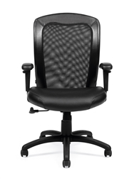 Offices To Go Luxhide and Mesh Task Chair OTG11692