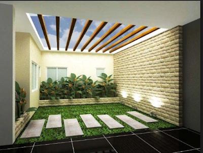 Inspirasi Taman Indoor Minimalis Yang  Adem Sejuk Dan Menenangkan Fikiran