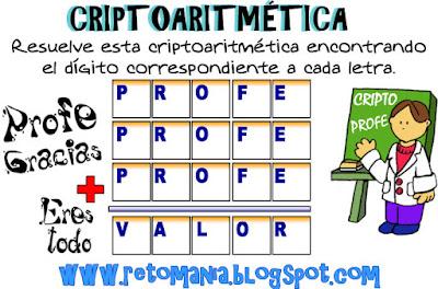 Alfamética, Criptoaritmética, Criptosumas, Criptogramas, Juego de letras