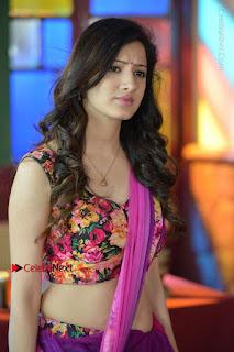 Actress Richa Panai Stills in Half Saree at Rakshaka Bhatudu Sets  0001.JPG