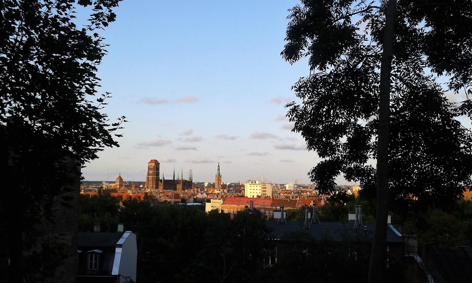 Gdańsk widziany z biskupiej gorki, biskupia gorka panorama gdanska