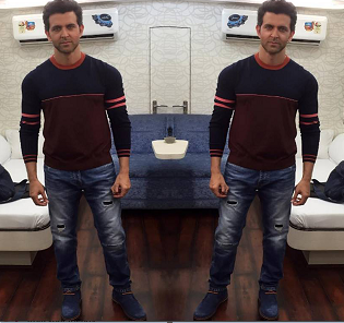 Spotted : Hrithik Roshan in Alberto Torresi Shoes