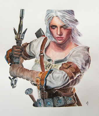 Acuarela The Witcher