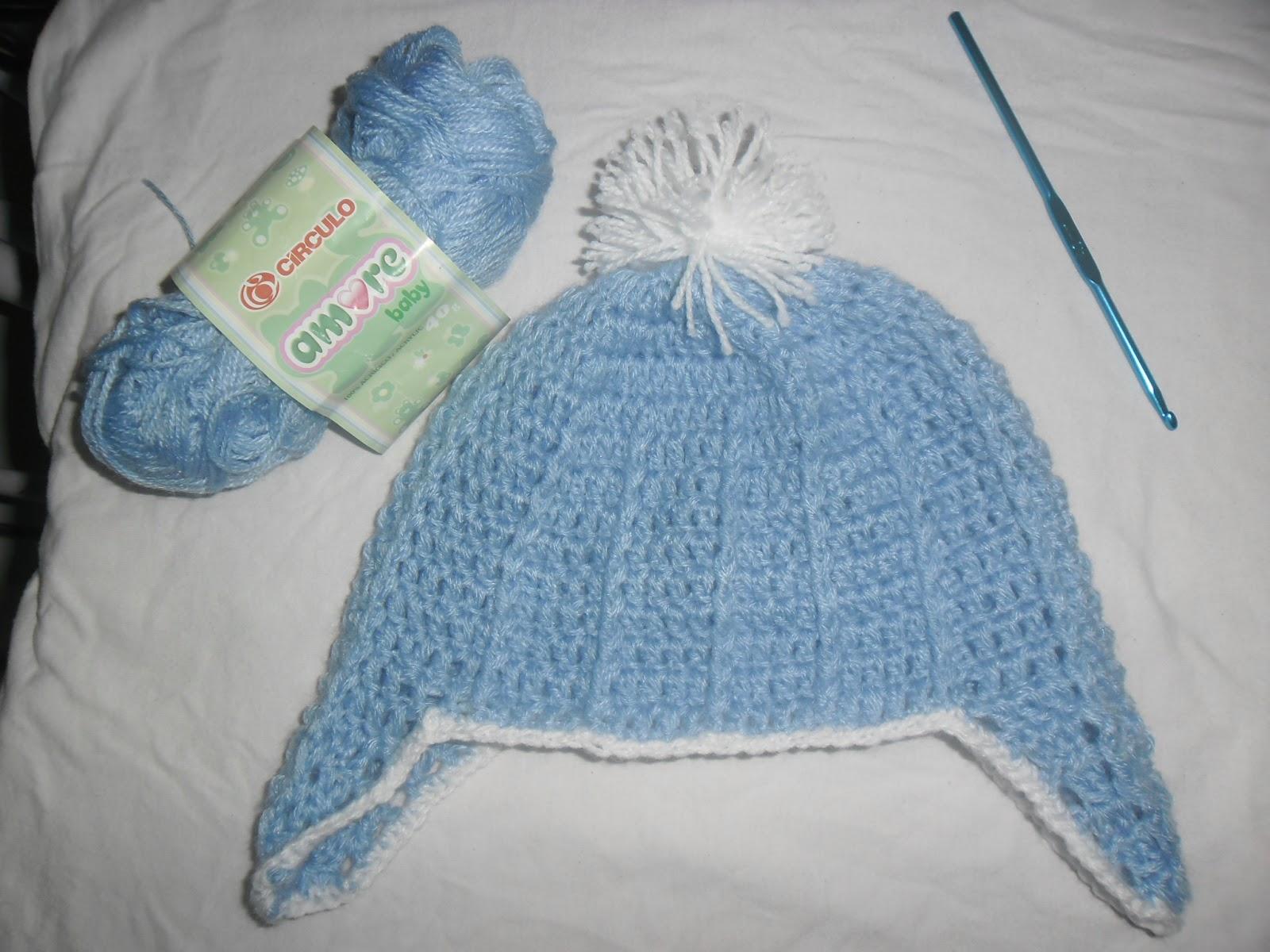 Lã azul bebê da (círculo-amore baby). Agulha crochê 4 c824e2d2aa0