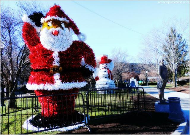 Santa y Muñeco de Nieve en Quincy