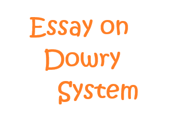 Essay on dowry