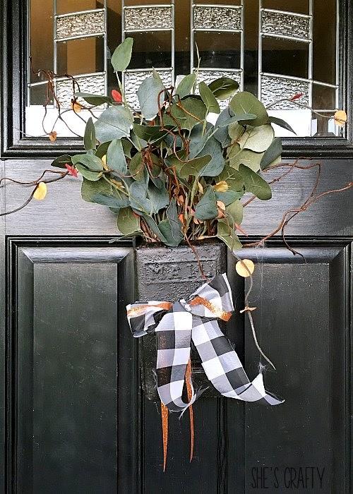 Fall vintage mailbox door hanger