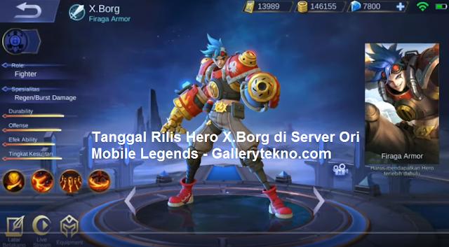Kapan Tanggal Rilis Hero X.Borg di Server Ori Mobile Legends