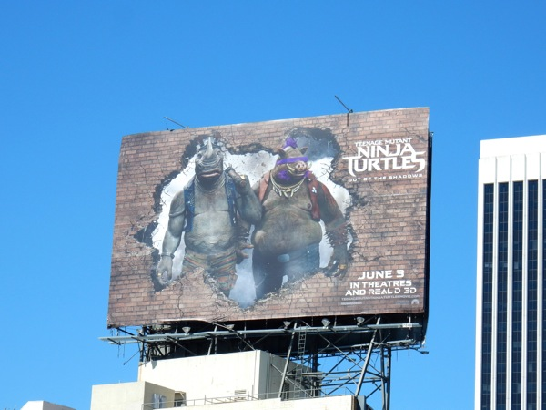 Teenage Mutant Ninja Turtles Rocksteady Bebop billboard